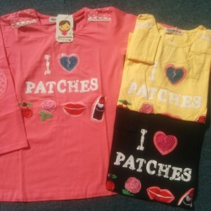 LOUISA TEE LS PATCHES