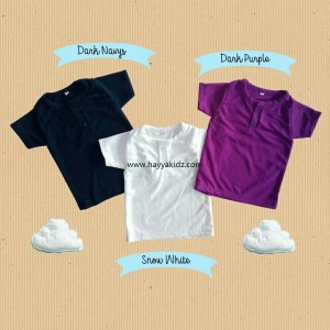 BUTTON TEE DARK PURPLE
