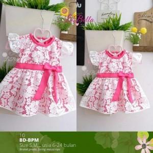 BD-BPM-10 WHITE DRESS BABY LABELLA SML