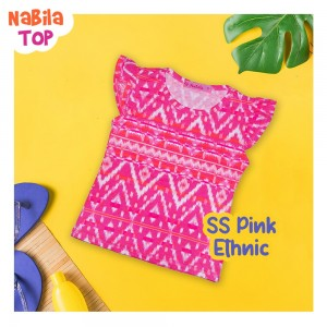 NB 8.1 SS PINK ETHNIC NABILA TOP