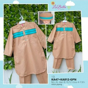 KA47-GPN-10 BROWN KOKO ANAK LABELLA M L XL