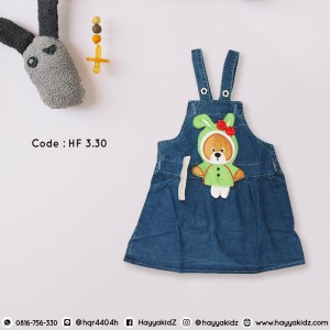 HF 3.30 RABBIT BEARS JEANS OVERALL