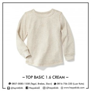 TOP BASIC 1.6 CREAM ATASAN ANAK