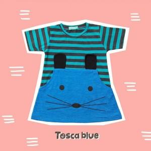 ANNORA 1.10 JUN TOSCA BLUE MINI DRESS ANAK
