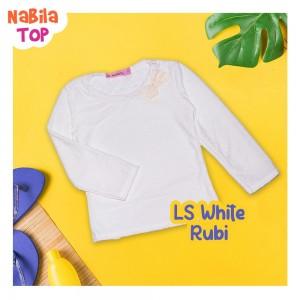 NB 7.7 LS WHITE RUBI NABILA TOP
