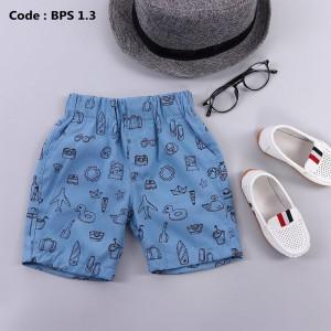 BPS 4.3 BLUE BOYS PATTERNED SHORT PANTS