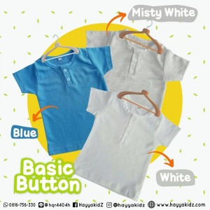 BASIC BUTTON MISTY WHITE