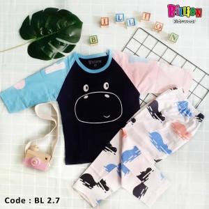 BL 2.7 NAVY HIPPO SETELAN BABY RAGLAN BILLION