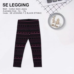 SE LEGGING 7.2 BLACK ETHNIC LEGGING ANAK