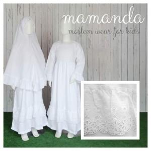MMD SS ALL WHITE SALEHA SERIES MAMANDA XXL
