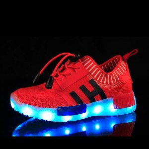 7 LIGHT HI RED SHOES