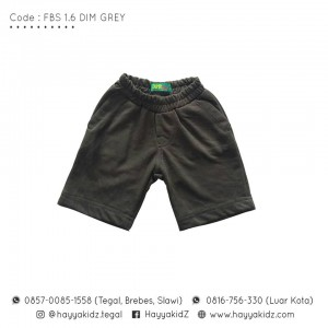 FBS 1.6 DIM GREY FANCY SHORT PANTS