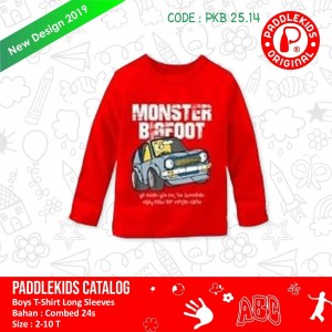 PKB 25.14 RED MONSTER KAOS ANAK PADDLEKIDS