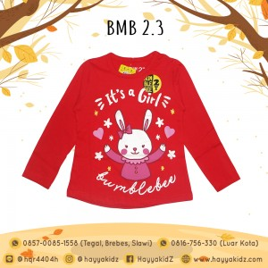 BMB 2.3 RED GIRL KAOS ANAK BUMBLEBEE