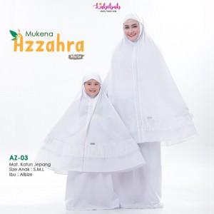 LBB AZ-03 SZ M WHITE AZZAHRA MUKENAH ANAK LABEBAH