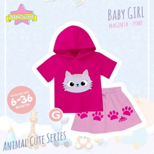 BS G FANTA CATTY SET HOODIE ANIMAL CUTE SERIES BABY SWEET