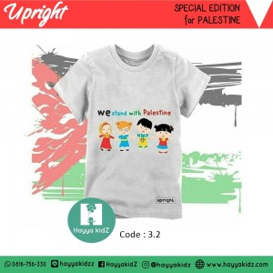 UR 3.2 WHITE PALESTINE KAOS UPRIGHT