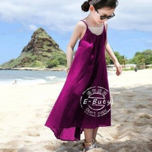 E BUTTY LONG DRESS PURPLE
