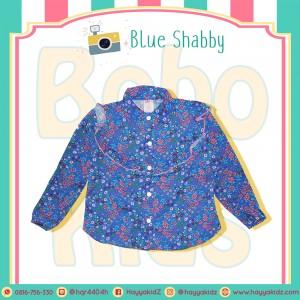 BB 1.3 BLUE SHABBY KEMEJA ANAK BOBO