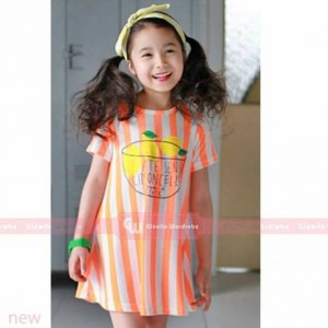 GW 193 KODE G - STRIPPED DRESS