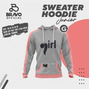 BR G GREY GIRL SWEATER HOODIE JUN BRAVO