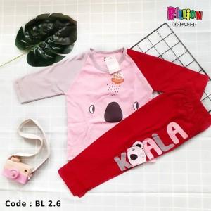 BL 2.6 PINK KOALA SETELAN BABY RAGLAN BILLION