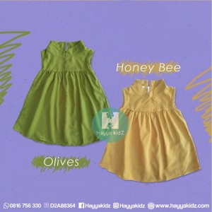 SWING DRESS HONEY BEE