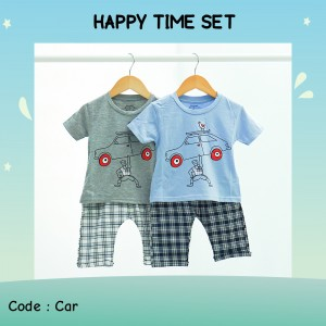 HAPPY 6.1 BLUE CAR POPEYE SETELAN ANAK HAPPY TIME