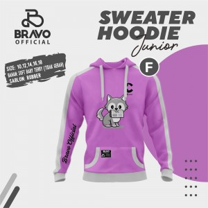 BR F PURPLE CATTY SWEATER HOODIE JUN BRAVO