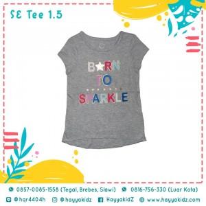 SE TEE 1.5 GREY BORN TO SPARKLE KAOS ANAK WONDER NATION