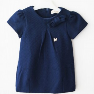 BURBERRY DRESS WAFFLE NAVY