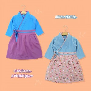 AIKO 1.5 JUN BLUE SAKURA AIKO GAMIS HANBOK JUNIOR