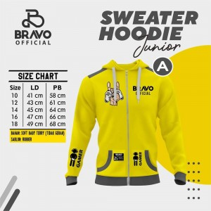 BR A YELLOW STIK GAME SWEATER HOODIE JUN BRAVO