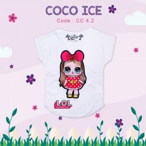 CC 4.2 WHITE FANTA RAINBOW KAOS ANAK COCO ICE