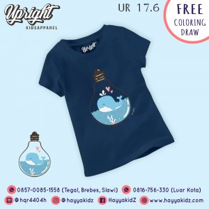 UR 17.6 NAVY WHALE KAOS ANAK UPRIGHT