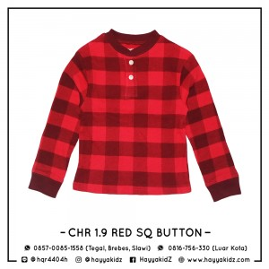 CHR 1.9 RED SQ BUTTON CHEROKEE SHIRT