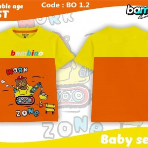 BO 2.2 ORANGE WORK KAOS BABY BAMBINO