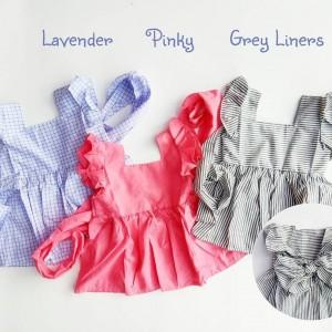 BACKBOW DRESS GREY LINERS