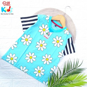 BK B BLUE FLOWER KAOS ANAK BILL KIDS