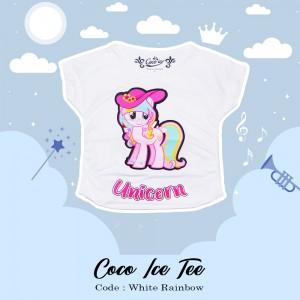 CC 3.9 WHITE RAINBOW UNI 4 6 8 KAOS ANAK COCO ICE