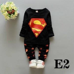 CHN SET SUPERMAN BLACK