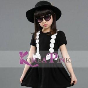 KOREAN PINK 10 KODE 1 BLACK DRESS
