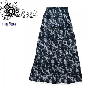 LONG SKIRT GREY STONE