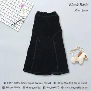 FL 1.13 BLACK BASIC ROK JEANS 10-14 FEELIT