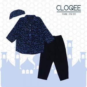 CLOQEE 3.6 KB HITAM BURUNG BIRU KOKO ANAK CLOQEE