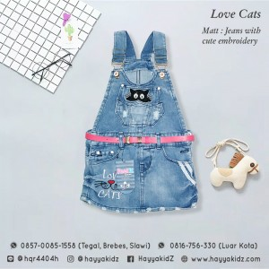 FL 1.16 LOVE CATS OVERALL ROK JEANS 4-8 FEELIT
