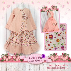 CTR VO-16 PEACH FLOW GAMIS ANAK CUTERIK BIG