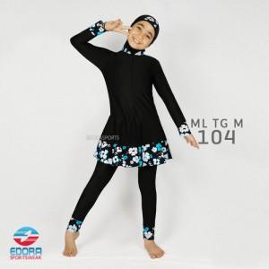 ED ML TG M 104 FLOWER BLUE BAJU RENANG EDORA