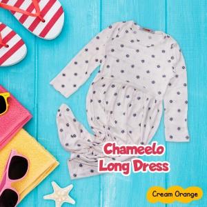 CHM 4.19 CREAM ORANGE LONG DRESS