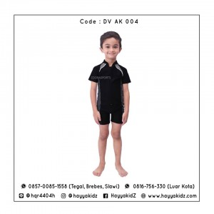ED DV AK 004 BLACK-GREY BAJU RENANG ANAK EDORA
